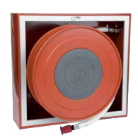 Swinging fire hose reel